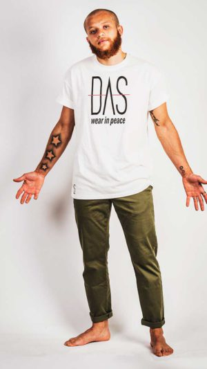 Dead Artist Society model: DAS -Wear in Peace (WIP) white, our Logo our slogan!